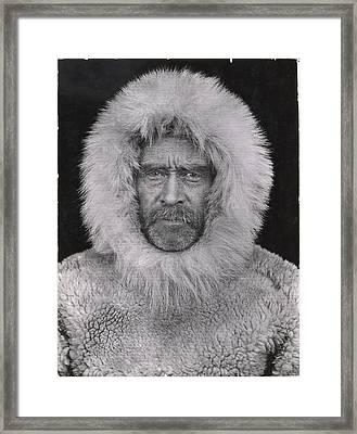 A Portrait Of Robert E. Peary Framed Print