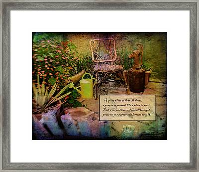 A Prayer Expressed Framed Print by La Rae  Roberts