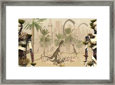 A Prehistoric City Now Void Of Any Life Framed Print by Mark Stevenson