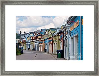 A Pretty Street In The Beach Framed Print
