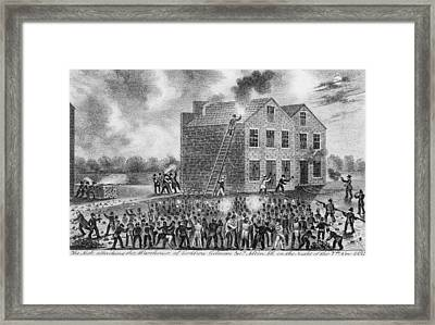 A Pro-slavery Mob Burning Framed Print