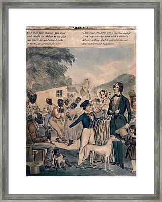 A Pro-slavery Portrayal Framed Print by Everett