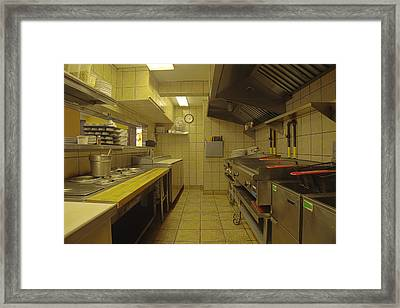 A Professional Kitchen With Ranks Framed Print