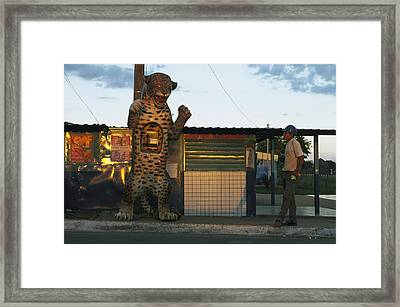 A Public Telephone In A Framed Print by Steve Winter