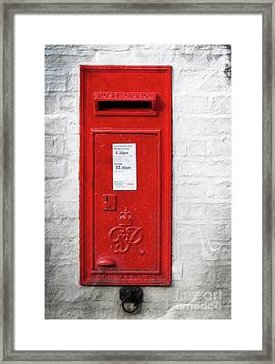 A Quaint Essential English Post Box Framed Print
