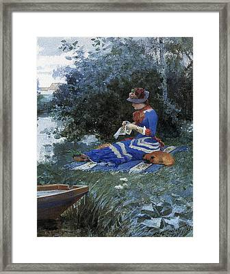 A Quiet Afternoon Framed Print by William Henry Lippincott