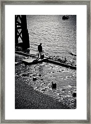 Framed Print featuring the photograph A Quiet Moment... by Lenny Carter