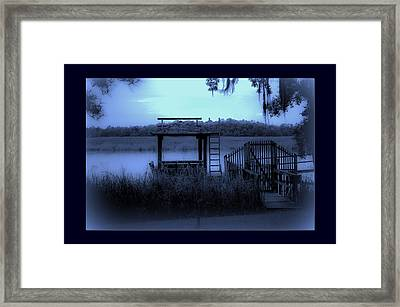 A Quiet Place By The Marsh Framed Print by DigiArt Diaries by Vicky B Fuller