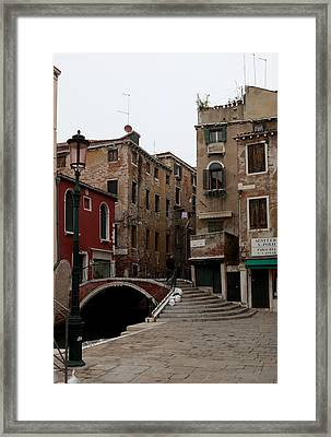 A Quiet Street Framed Print by Kenneth Drylie
