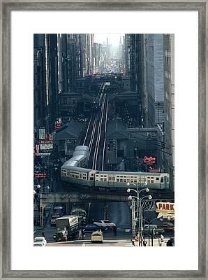 A Railway Encircles Thirty-five Blocks Framed Print
