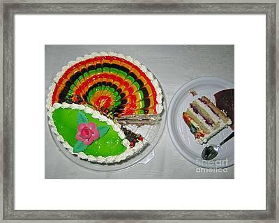 A Rainbow Cake- Yummy Framed Print