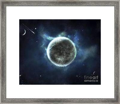 A Recently Discovered Earth-like Planet Framed Print by Tomasz Dabrowski