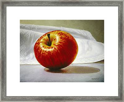A Red Apple Framed Print