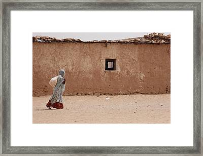 A Refugee From Western Sahara Leaves Framed Print by Steve Raymer