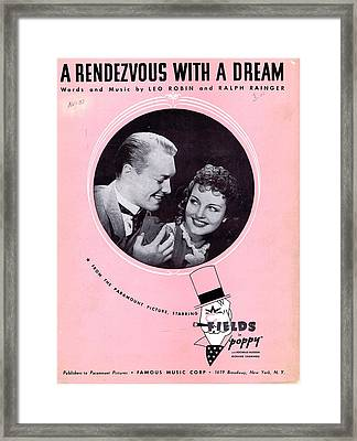 A Rendezvous With A Dream Framed Print