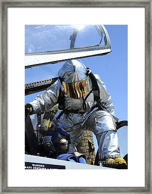 A Rescue Drill Is Performed Framed Print by Stocktrek Images