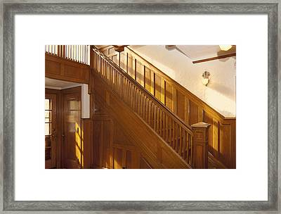 A Residential Building. An Oak Framed Print by Will Burwell