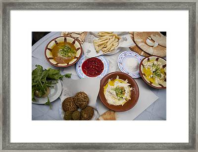 A Restaurant In The Old Part Framed Print by Taylor S. Kennedy