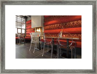 A Restaurant Interior.  Tables Framed Print