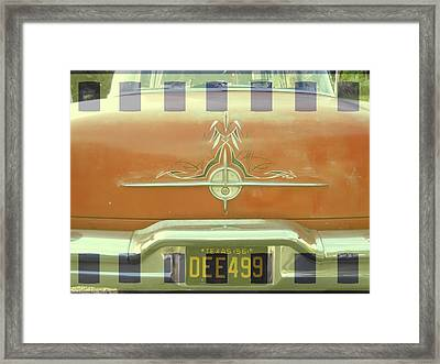 A Retro 1956 Orange Chevy With Textures Framed Print by Jennifer Holcombe