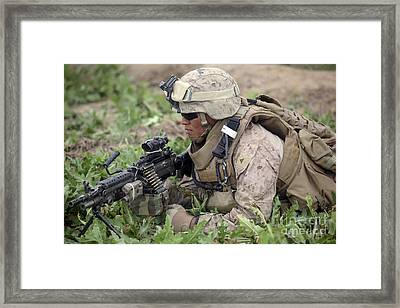A Rifleman Provides Security Framed Print by Stocktrek Images