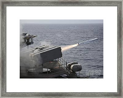 A Rim-7 Sea Sparrow Surface Missile Framed Print
