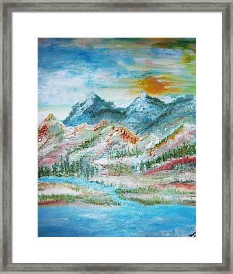 A River Runs Through  Framed Print by Fawn Whelahan