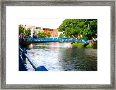 Framed Print featuring the photograph A River Runs Through It by Charlie and Norma Brock