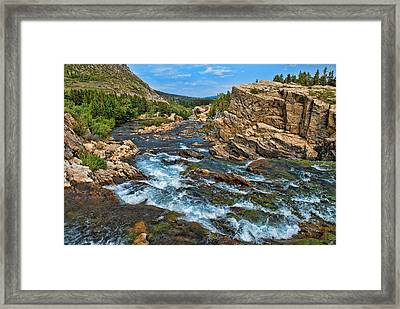 A River Runs Through It Framed Print by Lanis Rossi