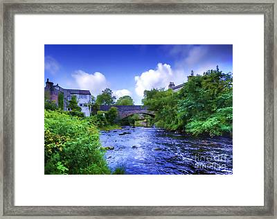 Framed Print featuring the photograph A River Runs Thru It In The Yorkshire Dales by Jack Torcello