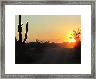 A Road To The Sun Framed Print by Wendi Matson