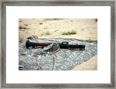 A Rocket-propelled Grenade Launcher Framed Print