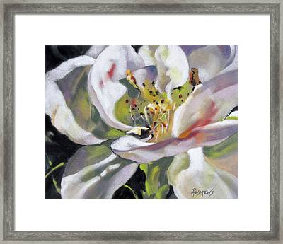 Framed Print featuring the painting A Rose By Any Other Name by Rae Andrews
