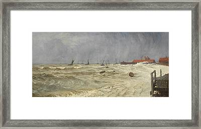 A Rough Day At Leigh Framed Print by William Pye