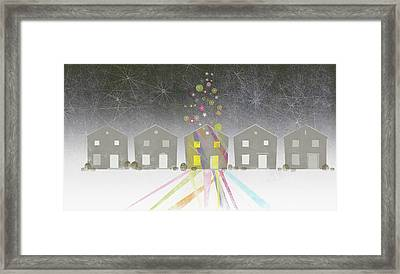 A Row Of Houses Framed Print by Jutta Kuss