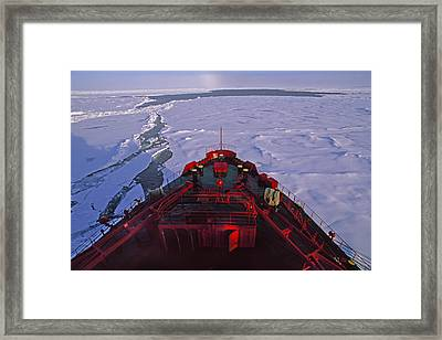 A Russian Nuclear Icebreaker, Forges Framed Print by Gordon Wiltsie