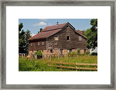 A Rustic Barn Framed Print by Wayne Stabnaw