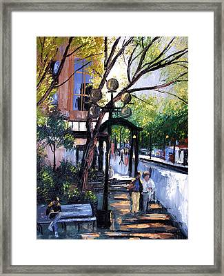 A Saturday Stroll  Framed Print by Anthony Falbo