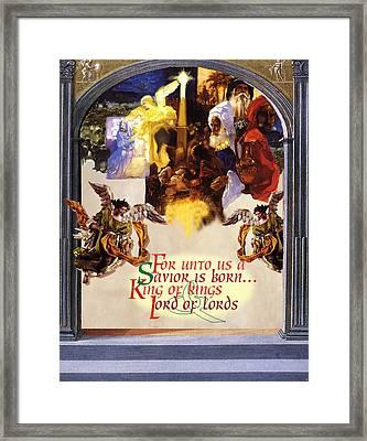 A Savior Is Born Framed Print by Chuck Hamrick
