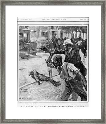 A Scene At The Race Disturbance Framed Print by Everett