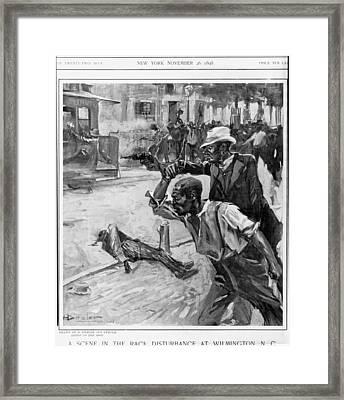 A Scene At The Race Disturbance Framed Print