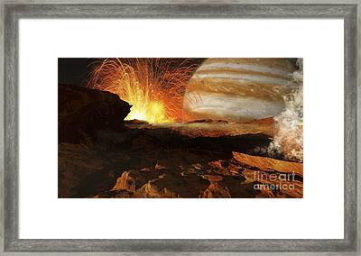 A Scene On Jupiters Moon, Io, The Most Framed Print by Ron Miller