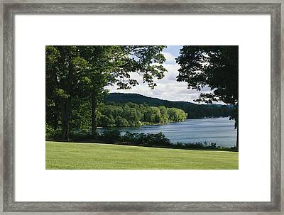 A Scenic View Of Otsego Lake Framed Print by Raymond Gehman