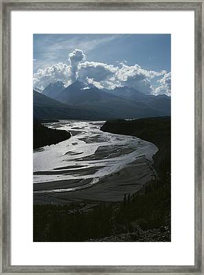 A Scenic View Of The Matanuska River Framed Print by George F. Herben