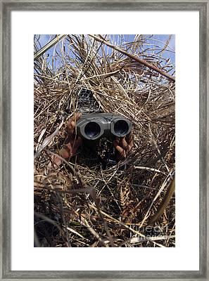 A Scout Observer Practices Observation Framed Print by Stocktrek Images