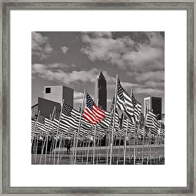 A Sea Of #flags During #marineweek Framed Print