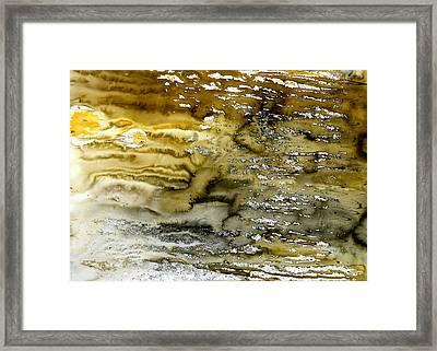 A Sea Of Raw Sienna Framed Print