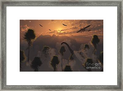 A Secret Lost World Where Time Stands Framed Print