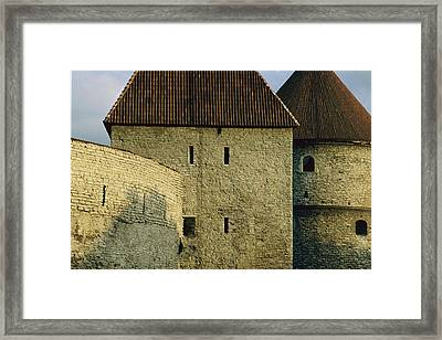 A Section Of Wall Around Tallinn, Built Framed Print by Sisse Brimberg