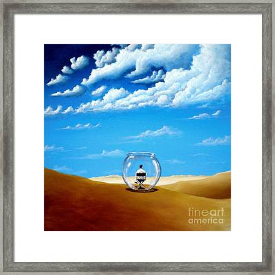 A Self Created Comfort Zone Framed Print